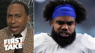 I'd 'shut down' Ezekiel Elliott's extension talks after brush with the law - Stephen A. | First Take