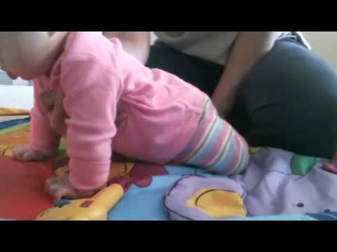 Physio @ Home (Teach how to Crawl) Baby with Down Syndrome