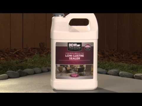How-To: Apply Behr Premium Low-Lustre Sealer