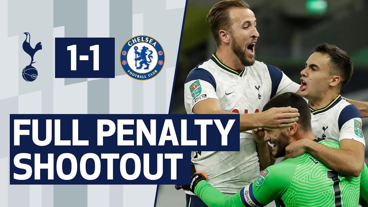SPURS 1-1 CHELSEA | FULL PENALTY SHOOTOUT | Dier, Lamela, Højbjerg, Lucas & Kane all score!