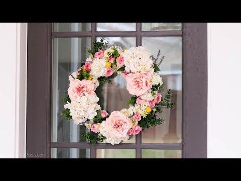 Faux Flower Spring Wreath