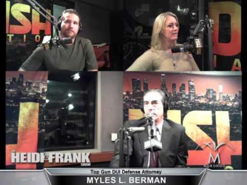 Myles L. Berman guest appearance on KLOS FM Heidi & Frank Show - December 19, 2013