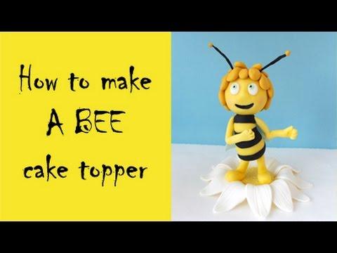 How to make a bee cake topper tutorial / Jak zrobić pszczółkę Maję z masy cukrowej