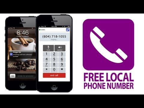 How to Get a FREE LOCAL PHONE NUMBER on iPhone, iPod, iPad