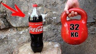 EXPERIMENT: 32KG KETTLEBELL vs COCA COLA