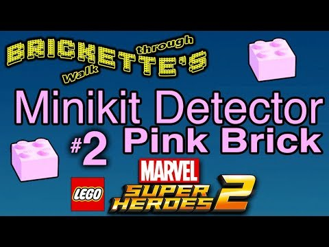 Minikit Detector Pink Brick, LEGO Marvel Super Heroes 2