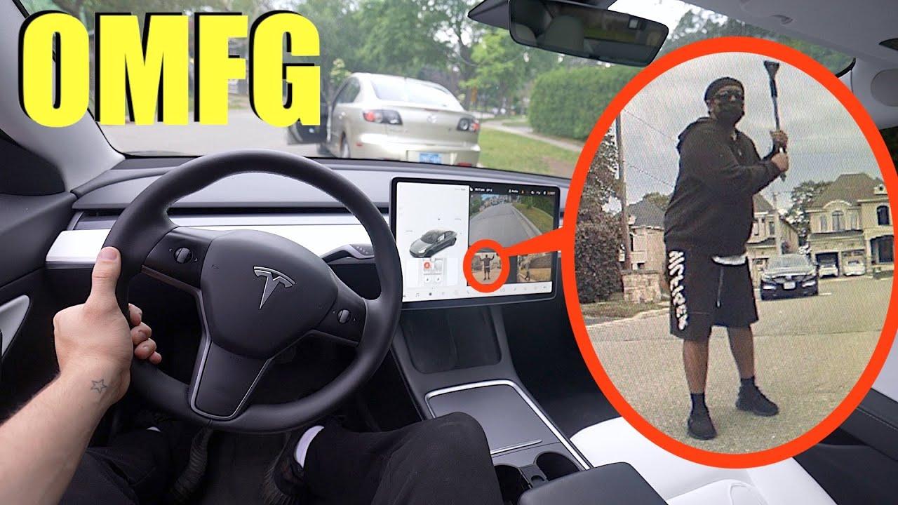 you won't believe what my Tesla caught on camera! (creepy man tries something disturbing)