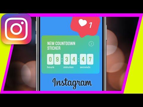 How to use Instagram COUNTDOWN STICKER in Instagram Stories - New update