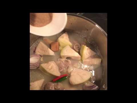 Cooked KBL (Kadyos Baboy & Langka) Ilonggo dish. Hai, Kaon ta!