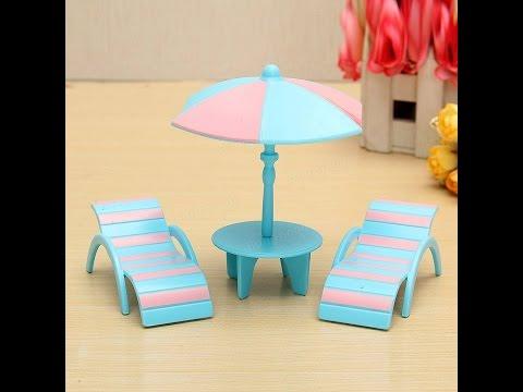 How To Make Beach Chair & Table - Dollhouse Miniatures