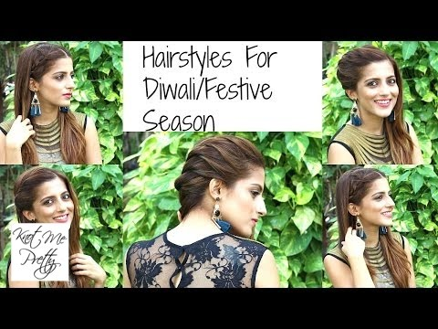 3 Indian Party Hairstyles For Medium to Long Hair | QUICK & EASY Indian Wedding Hairstyles