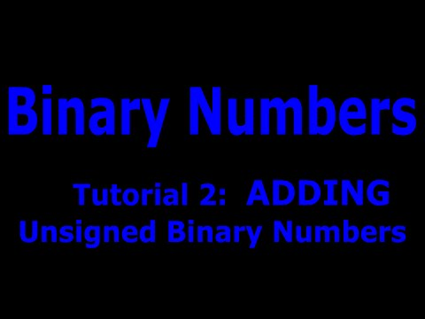 Unsigned Binary Numbers Part : 2  ADDING