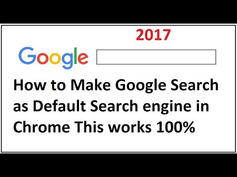 How to Make Google Search as Default Search engine in Chrome works 100%