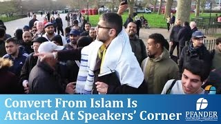 CONVERT FROM ISLAM IS ATTACKED AT SPEAKERS