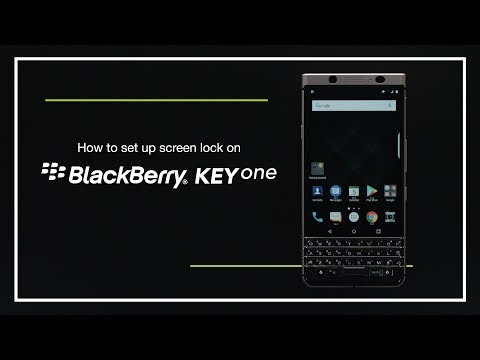 How to set up screen lock on BlackBerry KEYone