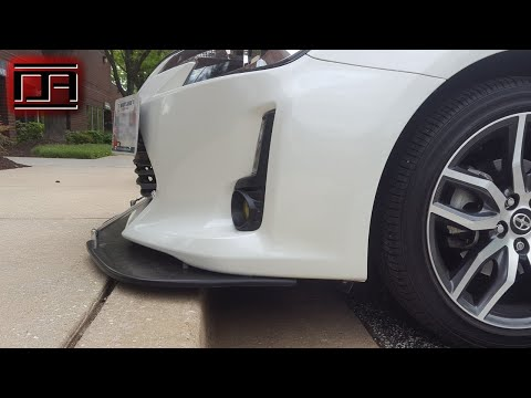 Universal Polyurethane Front Air / Wind Splitter with Support Rods Install (Scion tC2.5)