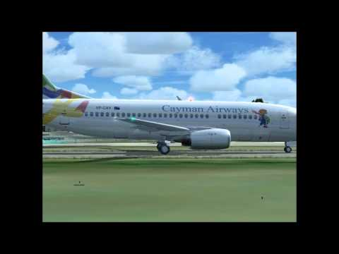 Cayman Airways Landing in the British Virgin Islands