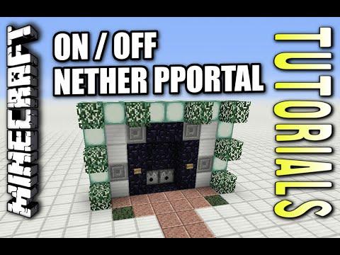 Minecraft - NETHER PORTAL ON / OFF - Tutorial ( PE / XBOX / PS4 / PS3 / WII U )