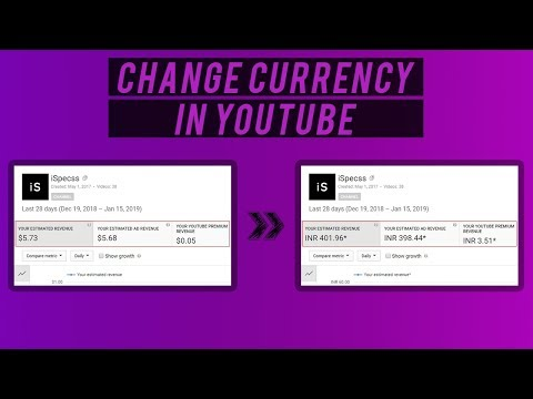 How to change Youtube Revenue Currency