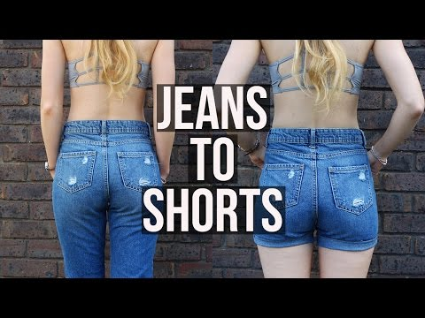 DIY Denim Shorts from Mom Jeans QUICK | Ellesse