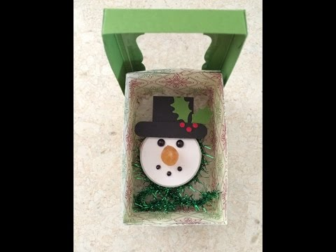 Snowman Tea Light Ornament With Gift Box ~ Tutorial