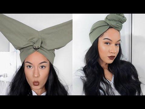 HAIR HACK| EASY Turban/Headwrap using LEGGINGS ft. VIP Beauty Aliexpress