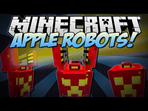 Minecraft | APPLE ROBOTS! (Battle Robots made with Apples!) | Mod Showcase [1.6.2]