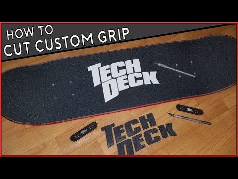 How To Cut Griptape Tutorial (Tech Deck Skateboard Grip)