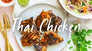 Thai GRILLED CHICKEN Weeknight Dinner | HONEYSUCKLE