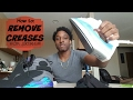 How to remove creases from jordans!!