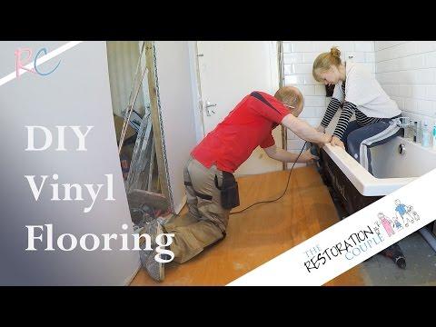 Bathroom Renovation 8.0 | Fitting Vinyl Flooring