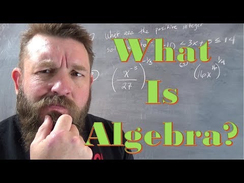What is Algebra? Why do we learn it?