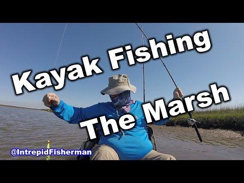 Kayak Fishing - Redfish and Flounder - Pierce Marsh Texas