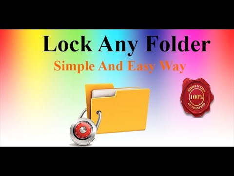 How to Lock Any Folder in Windows 7,8,xp,10 Free in Urdu/Hindi