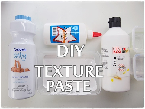 DIY Texture Paste on BUDGET ♡ Maremi's Small Art ♡
