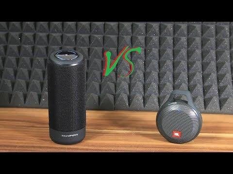 SoundPEATS P4 vs JBL Clip plus sound bass test [HQ]