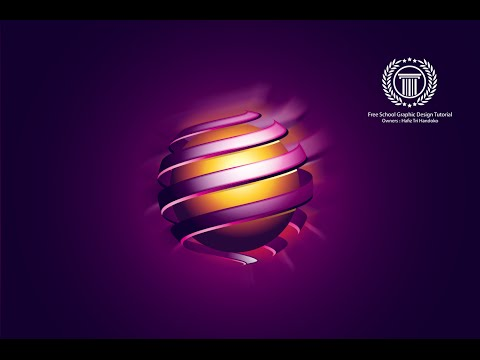 How to create an abstract sphere 3D logo design in adobe illustrator CC