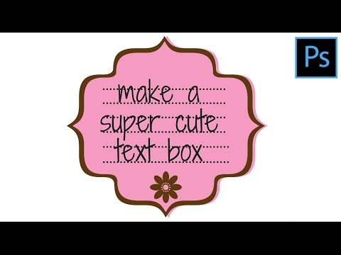 Create a Super Cute Text Box in Photoshop