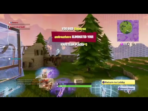 Fortnite rode to first win livestream