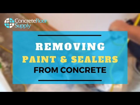 Removing paint and sealers from concrete