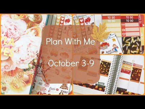 Plan With Me | Erin Condren | October 2016