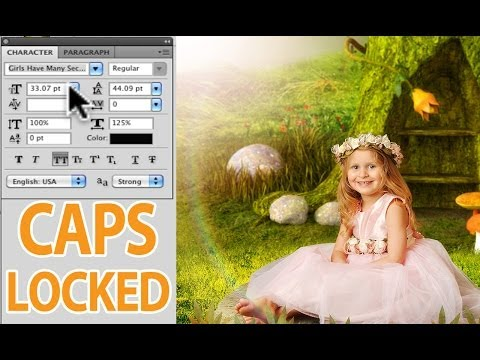 How To Turn Off Text Caps In Photoshop - Quick Tip
