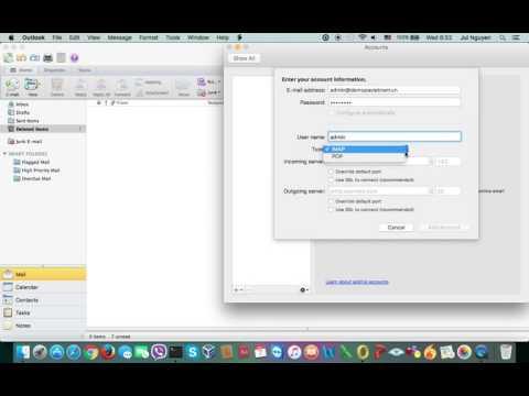 Hướng dẫn - Cấu hình gửi nhận Microsoft Outlook  trên Mac OS | P.A Việt Nam
