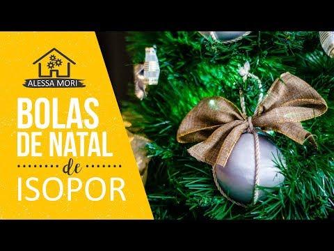 ⭐BOLAS DE NATAL DE ISOPOR | DIY NATALINO