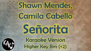 Shawn Mendes, Camila Cabello - Señorita Karaoke Lyrics Instrumental Cover Higher Key Bm