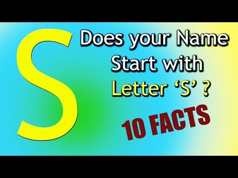10 Facts about the People whose name starts with Letter 'S' | Personality Traits