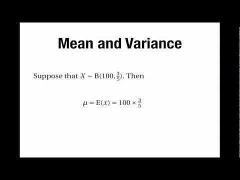 Binomial Distribution: Mean & Variance