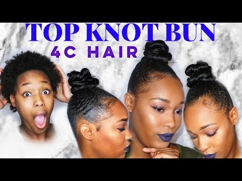 HOW TO | TOP KNOT BUN |  4C HAIR | SHORT NATURAL HAIRSTYLE