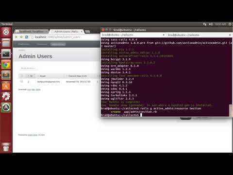Building a CMS with ruby on rails - 2