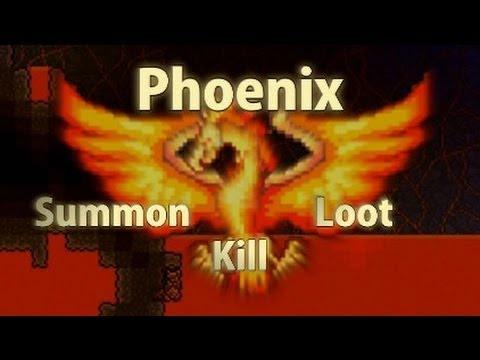 Terraria - [Reborn Mod] Phoenix Hell Boss - Summon, kill, loot